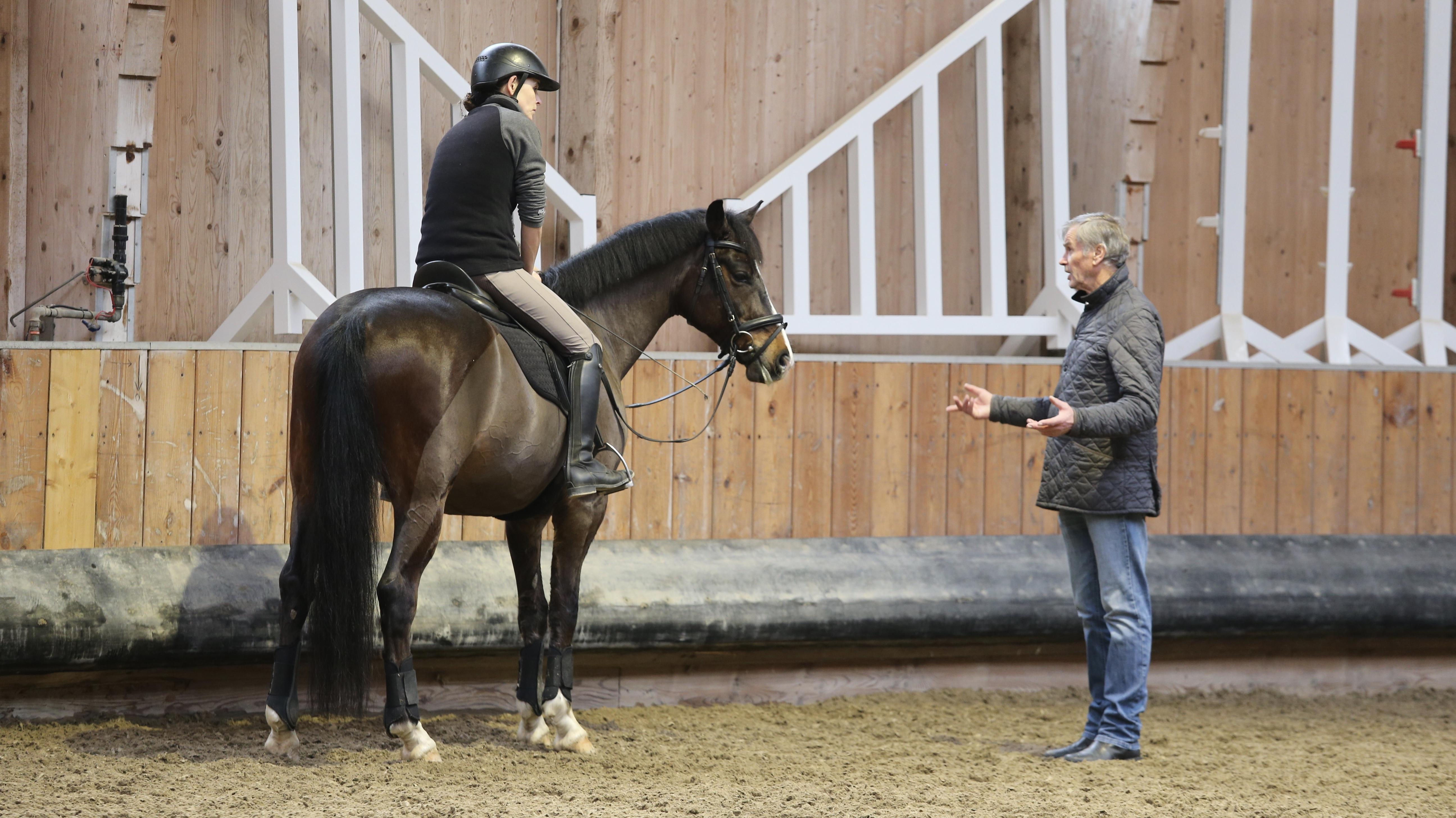 Ekkehard Rönnefarth trainiert Sandra Trapp
